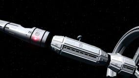 Space Ship Interstellar Flight stock footage