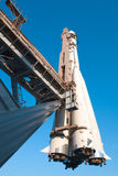 Space ship on a launch pad Royalty Free Stock Photography