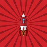 space ship rocket retro red theme Royalty Free Stock Image
