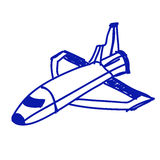 Space ship sketch Stock Photography