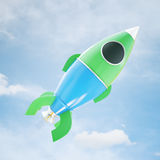 Space ship on sky background Royalty Free Stock Photography