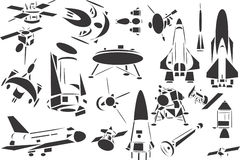 Space Ships. 20 themed EPS images related to space research. The number of vector nodes is absolute minimum. The images are very easy to use and edit and are stock illustration