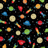 Space ships pattern stock illustration