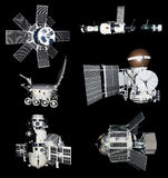 Space Ships Probes Cutout Royalty Free Stock Photo