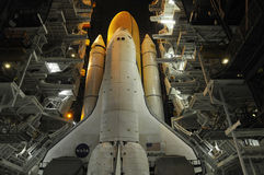 Space Shuttle. A huge space shuttle at its launchpad site, at NASA's Kennedy Space Center Stock Photo
