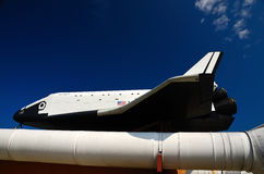 Space Shuttle. Orbiter Pathfinder and solid rocket booster Stock Photos