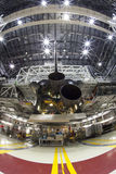 Space shuttle. The space shuttle Endeavour is having non operational engines installed getting it ready for its trip to a California Museum Stock Photos