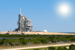 Space shuttle. On launch platform Stock Photography