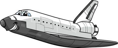 Space shuttle cartoon illustration Stock Photo