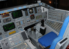 Space Shuttle cockpit stock images