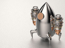 Space shuttle. 3d rendering shiny metal space shuttle royalty free illustration