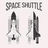 Space shuttle design. American space shuttle design isolated on white background royalty free illustration