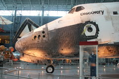Space Shuttle Discovery. CHANTILLY, VIRGINIA – SEPTEMBER 9: NASA's space shuttle Discovery on display at the Smithsonian National Air and Space Museum Steven F Stock Image