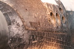 Space Shuttle Discovery. CHANTILLY, VIRGINIA – SEPTEMBER 9: NASA's space shuttle Discovery on display at the Smithsonian National Air and Space Museum Steven F Royalty Free Stock Image