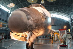 Space Shuttle Discovery. CHANTILLY, VIRGINIA – SEPTEMBER 9: NASA's space shuttle Discovery on display at the Smithsonian National Air and Space Museum Steven F Stock Photo
