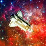 Space shuttle. Elements of this image furnished by NASA.  stock photo