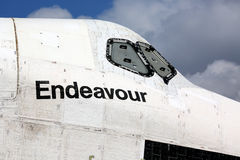 Space shuttle Endeavour. Was transported from LAX Los Angeles airport to the permanent location. The space shuttle have been retired and will now be on display Royalty Free Stock Photography