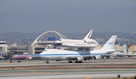 Space shuttle Endeavour, Los Angeles 2012. September 21st, 2012 Royalty Free Stock Images
