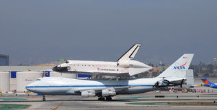 Space shuttle Endeavour, Los Angeles 2012. September 21st, 2012 Royalty Free Stock Image