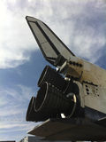 Space Shuttle Endeavour. Tail of the space Shuttle Endeavour on its move through Los Angeles to the California Science Center Stock Image