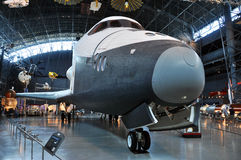 Space Shuttle Enterprise. At the National Air and Space Museum Steven F. Udvar-Hazy Center, James S. McDonnell Space Hangar, in Chantilly, Virginia, USA Stock Photography