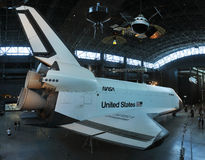 Space Shuttle Enterprise. At the National Air and Space Museum Steven F. Udvar-Hazy Center, James S. McDonnell Space Hangar, in Chantilly, Virginia, USA Stock Image