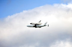 Space Shuttle Enterprise flyover NYC Stock Image
