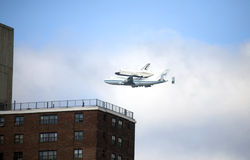 Space Shuttle Enterprise flyover NYC Stock Photos