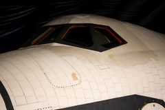 Space shuttle Enterprise, Intrepid Museum. The Space Shuttle Enterprise cockpit on display at the Intrepid Museum in Manhattan, NYC Royalty Free Stock Photography