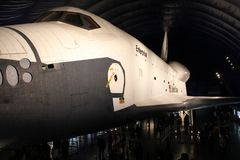 Space shuttle Enterprise, Intrepid Museum. The Space Shuttle Enterprise on display at the Intrepid Museum in Manhattan, NYC Royalty Free Stock Photos