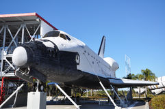 Space Shuttle Explorer, Florida, USA. Space Shuttle Explorer, a life-size replica of the Space Shuttle at Kennedy Space Center, Cape Canaveral, Florida, USA Stock Images