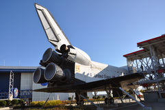 Space Shuttle Explorer, Florida, USA. Space Shuttle Explorer, a life-size replica of the Space Shuttle at Kennedy Space Center, Cape Canaveral, Florida, USA Royalty Free Stock Photo