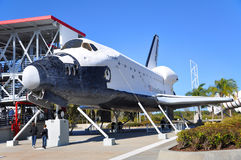Space Shuttle Explorer, Florida, USA. Space Shuttle Explorer, a life-size replica of the Space Shuttle at Kennedy Space Center, Cape Canaveral, Florida, USA Stock Photography