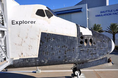 Space Shuttle Explorer, Florida, USA. Space Shuttle Explorer, a life-size replica of the Space Shuttle at Kennedy Space Center, Cape Canaveral, Florida, USA Royalty Free Stock Photography