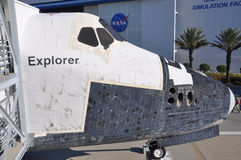 Space Shuttle Explorer, Florida, USA. Space Shuttle Explorer, a life-size replica of the Space Shuttle at Kennedy Space Center, Cape Canaveral, Florida, USA Stock Image