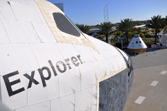 Space Shuttle Explorer, Florida, USA. Space Shuttle Explorer, a life-size replica of the Space Shuttle at Kennedy Space Center, Cape Canaveral, Florida, USA Royalty Free Stock Image