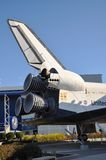 Space Shuttle Explorer, Florida, USA. Space Shuttle Explorer, a life-size replica of the Space Shuttle at Kennedy Space Center, Cape Canaveral, Florida, USA Stock Photos