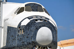 SPACE SHUTTLE EXPLORER TILES NOSE Kennedy Space. This is a Shuttle Explorer at Kennedy Space Center where many gathered a few days ago to say good bye to Royalty Free Stock Photo