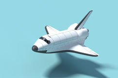 Space Shuttle. Space Shuttle flight in a light blue background 3d model rendering Stock Photography