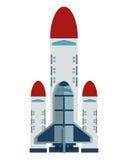 Space shuttle icon. Flat design space shuttle icon illustration royalty free illustration
