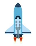 Space shuttle icon. Flat design space shuttle icon illustration stock illustration