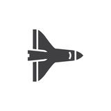 Space Shuttle icon , solid logo illustration, pictogram is. Olated on white stock illustration
