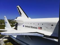 Space Shuttle Independence on Carrier Aircraft stock photo