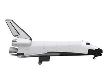 Space Shuttle Isolated. On white background. 3D Render stock illustration