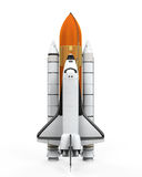 Space Shuttle Isolated. On white background. 3D render Stock Photo