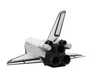 Space Shuttle Isolated. On white background. 3D render royalty free illustration