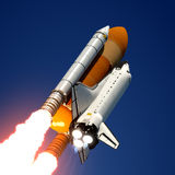 Space Shuttle Launch. 3D Scene Royalty Free Stock Photography