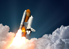 Space Shuttle Launch. 3D Scene Royalty Free Stock Images