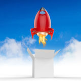 Space shuttle launch. Out of the box stock illustration