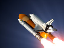 Space Shuttle Launch. In The Sky. 3D Illustration vector illustration